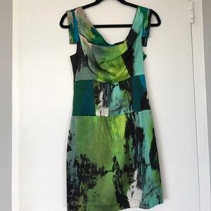 Black Halo silk Jackie-O mini dress